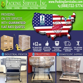 Wrap Printers Palletize and Ship from PA to Ohio
